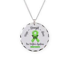 Strength Non-Hodgkins Necklace Circle Charm