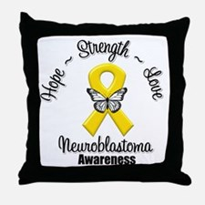 Strength Neuroblastoma Throw Pillow
