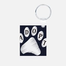animal adopt sign Keychains