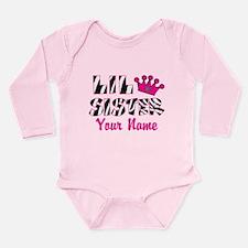 Little Sister Zebra Long Sleeve Infant Bodysuit