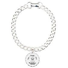 Strength Mesothelioma Charm Bracelet, One Charm