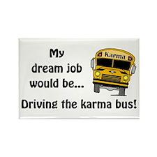 Karma Bus Rectangle Magnet