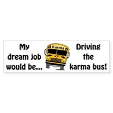 Karma Bus Bumper Sticker