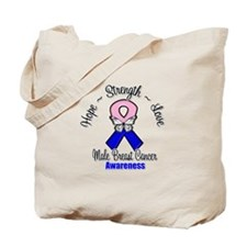 Strength Male Breast Cancer Tote Bag
