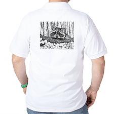 Raccoon Pen & Ink T-Shirt white
