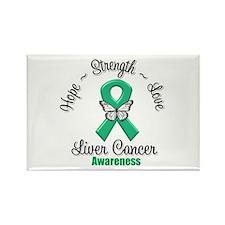Strength Liver Cancer Rectangle Magnet