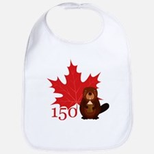 Canada 150 - Beaver Baby Bib