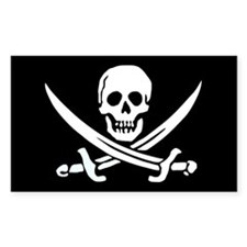 Jolly Roger Rectangle Stickers