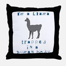 I'm a Llama Throw Pillow