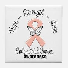 Strength Endometrial Cancer Tile Coaster