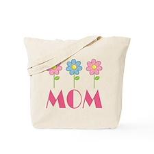 Mom Polka Dot Daisy Tote Bag