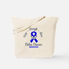 Strength Colon Cancer Tote Bag