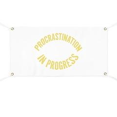 Procrastination in Progress Banner
