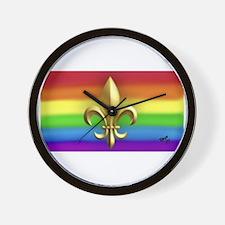 FUR ELISE gay rainbow art Wall Clock