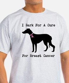 Greyhound Personalizable I Bark For A Cure T-Shirt