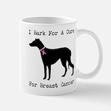Greyhound Personalizable I Bark For A Cure Mug