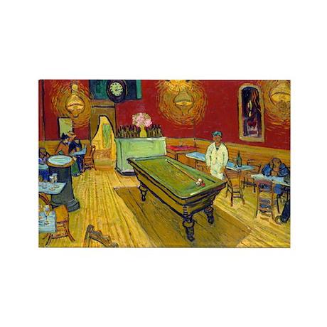 Van Gogh - Night Cafe Rectangle Magnet