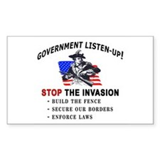 Invasion Listen-Up - Rectangle Decal