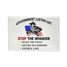 Invasion Listen-Up - Rectangle Magnet