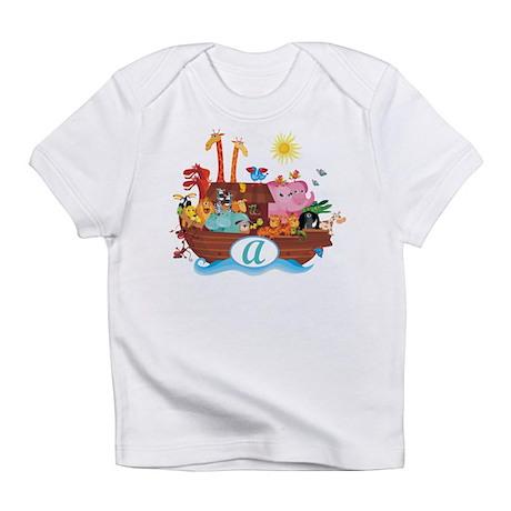 Letter A Initial Noah's Ark Infant T-Shirt