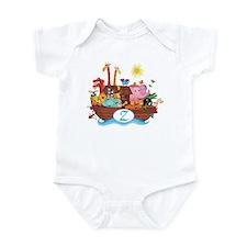 Letter Z Initial Noah's Ark Infant Bodysuit