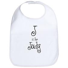 J Is For Judy Bib