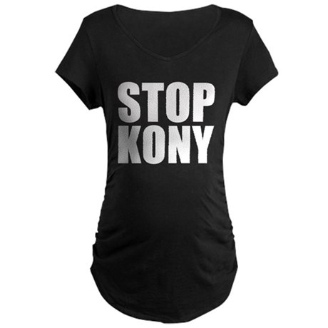 Stop Kony Maternity Dark T-Shirt
