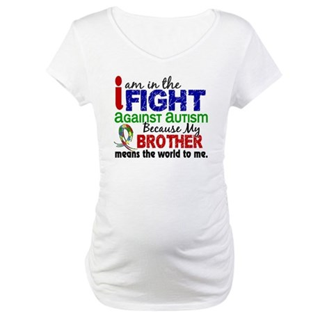 In The Fight 2 Autism Maternity T-Shirt