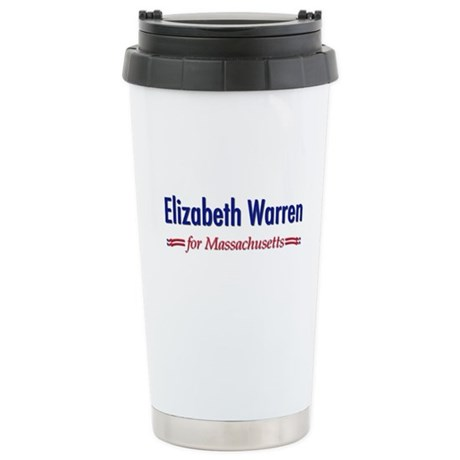 """Elizabeth Warren for MA"" Stainless Steel Travel M"