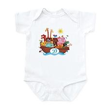 Letter D Initial Noah's Ark Infant Bodysuit