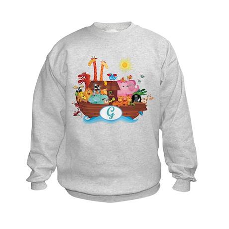Letter G Initial Noah's Ark Kids Sweatshirt