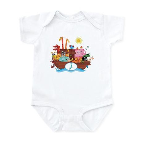 Letter J Initial Noah's Ark Infant Bodysuit