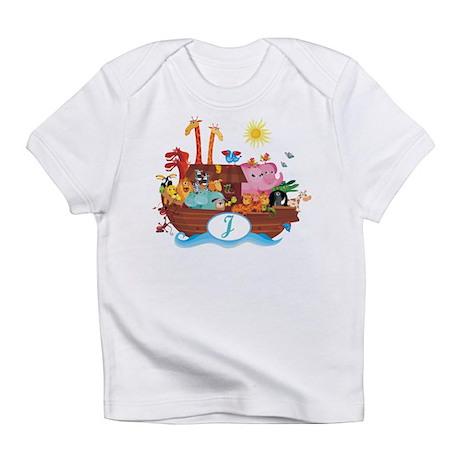 Letter J Initial Noah's Ark Infant T-Shirt