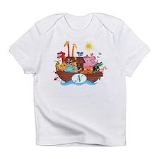 Letter N Initial Noah's Ark Infant T-Shirt