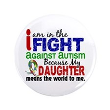 "In The Fight 2 Autism 3.5"" Button"
