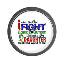 In The Fight 2 Autism Wall Clock