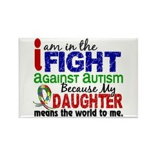 In The Fight 2 Autism Rectangle Magnet (10 pack)