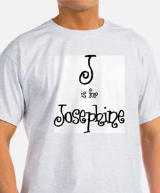 J Is For Josephine Ash Grey T-Shirt