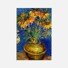 Van Gogh - Fritillaries Rectangle Magnet