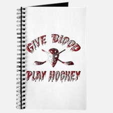 Give Blood Play Hockey Journal