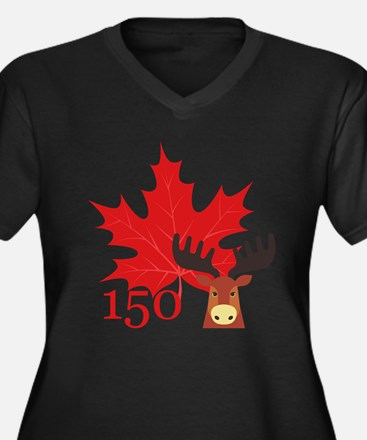 Canada 150 - Moose Plus Size T-Shirt