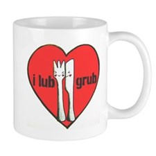 I Lub Grub Silverware Mug