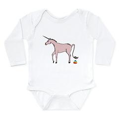 Unicorns Poop Rainbows Long Sleeve Infant Bodysuit