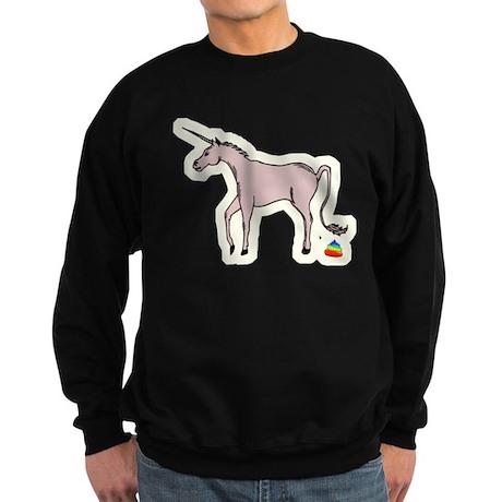 Unicorns Poop Rainbows Sweatshirt (dark)