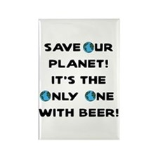Save Our Planet Beer Rectangle Magnet