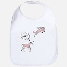 Unicorn Pegasus Lucky Bib