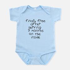 Finally Free Serving 9 Months Infant Bodysuit