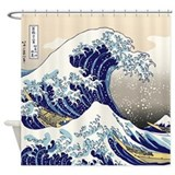 Art great wave Shower Curtains