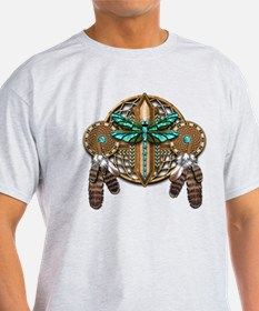 Labradorite Dragonfly Dreamcatcher T-Shirt
