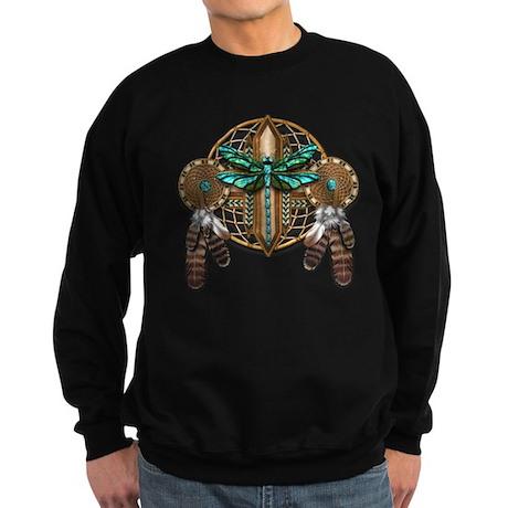 Labradorite Dragonfly Dreamcatcher Sweatshirt (dar